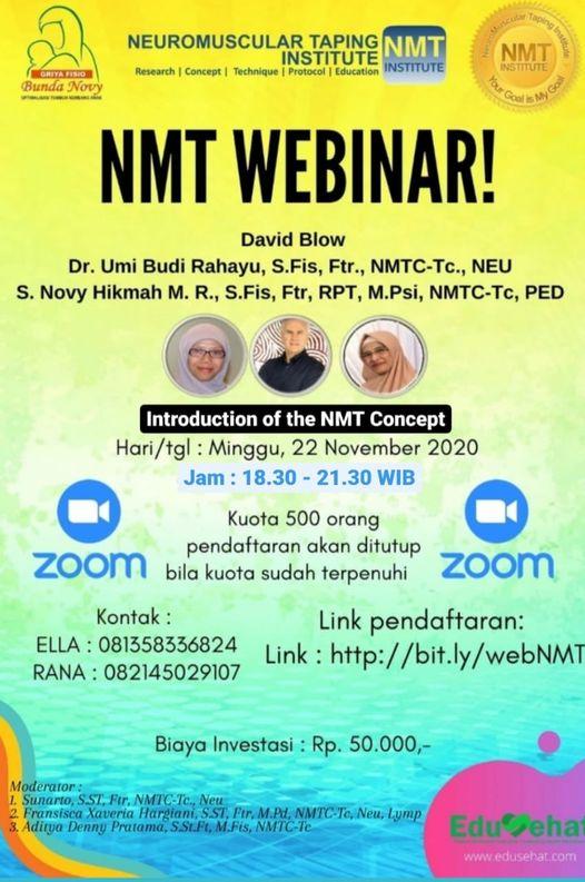 NMT WEBINAR, Indonesia 22 nov 2020
